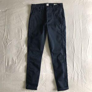 Gap High Rise Twill Navy Pants